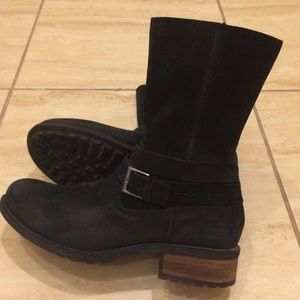 UGG black suede boots